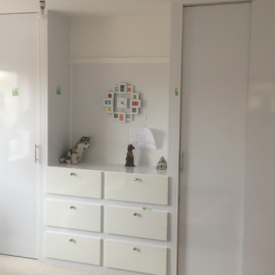 Fitted double wardrobe